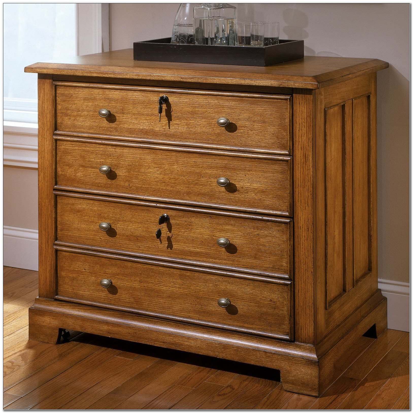 Lateral Wood File Cabinets With Lock