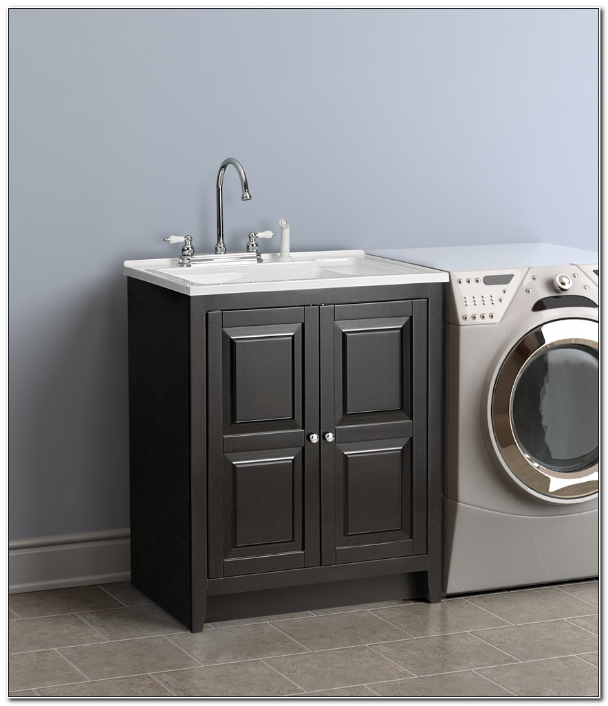 Laundry Room Utility Sink Cabinet