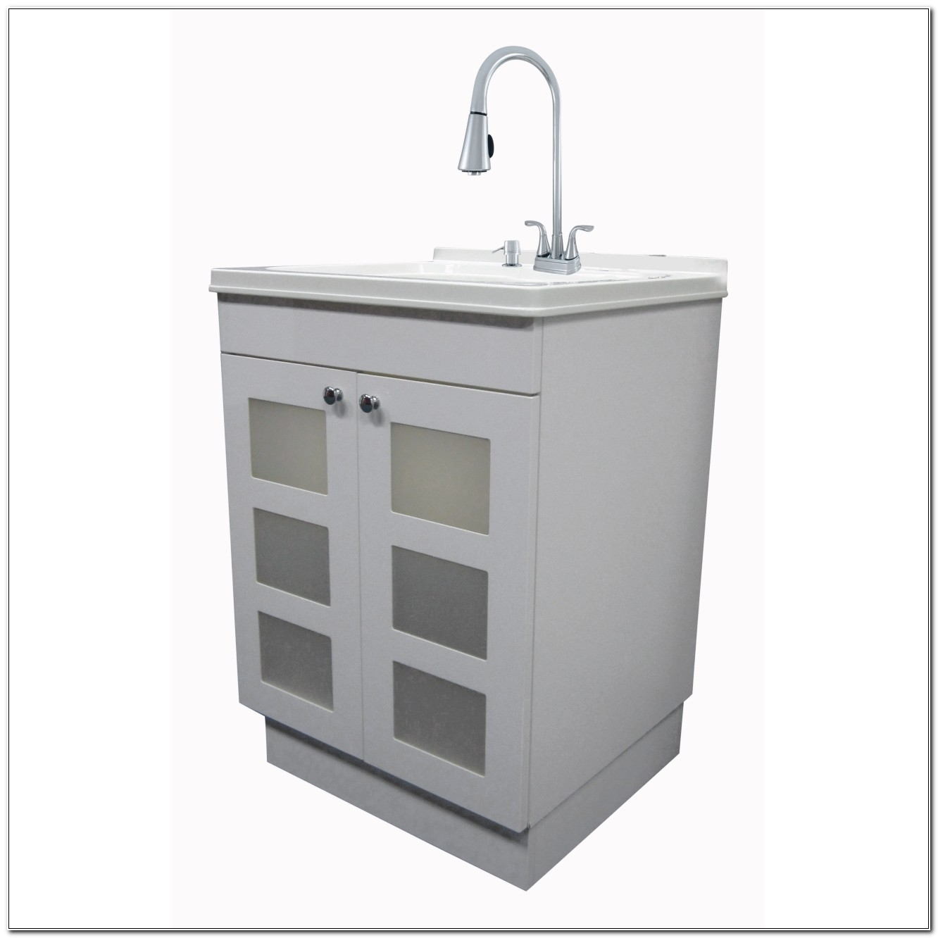 Laundry Utility Sink And Cabinet