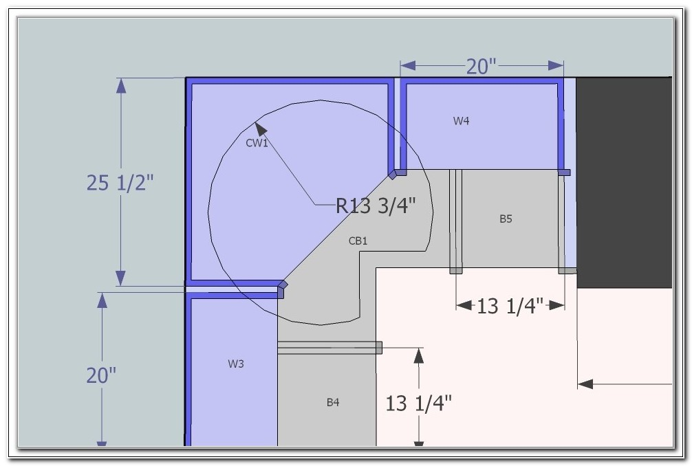 Lazy Susan Kitchen Cabinets Dimensions