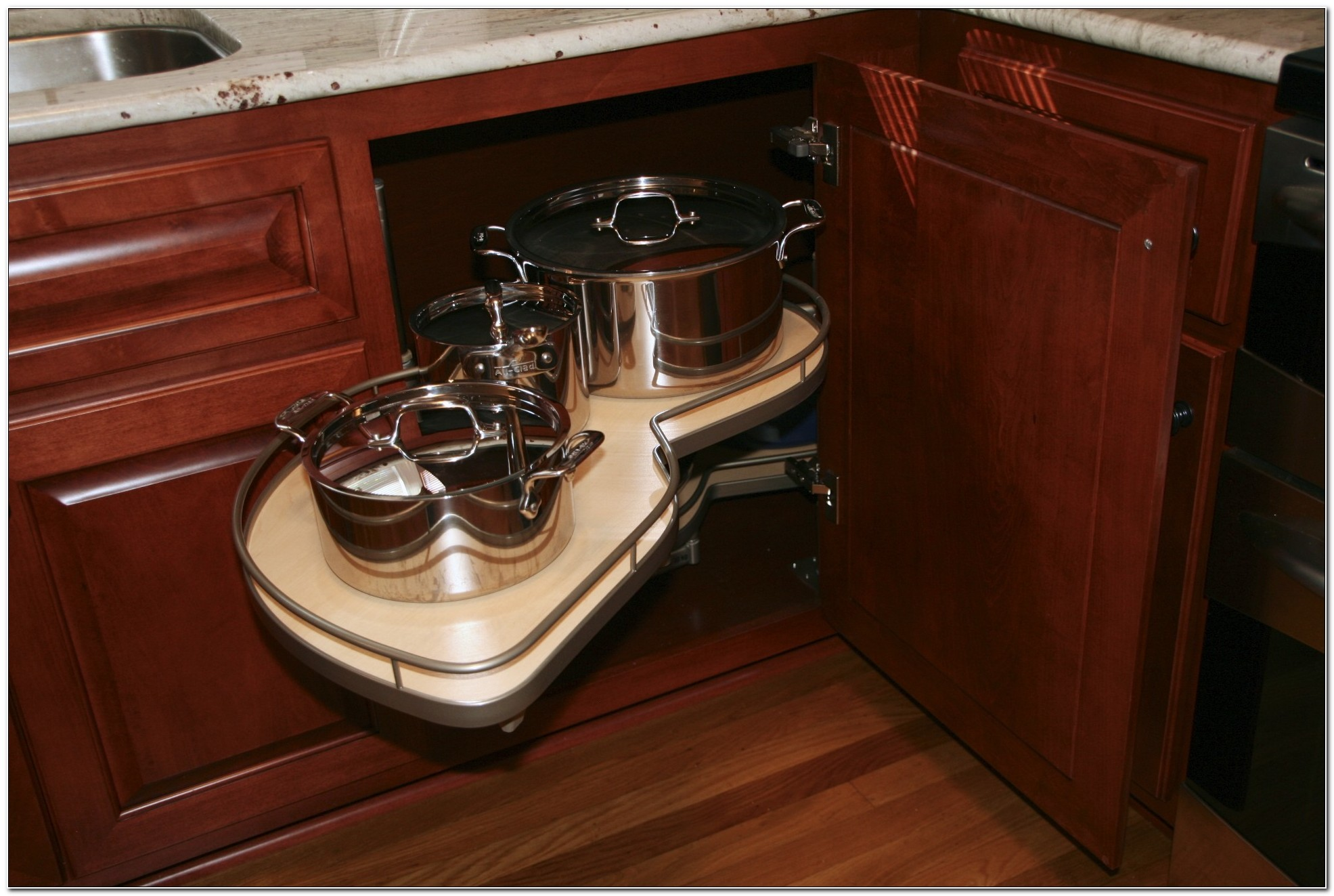 Lazy Susan Turntable For Kitchen Cabinets
