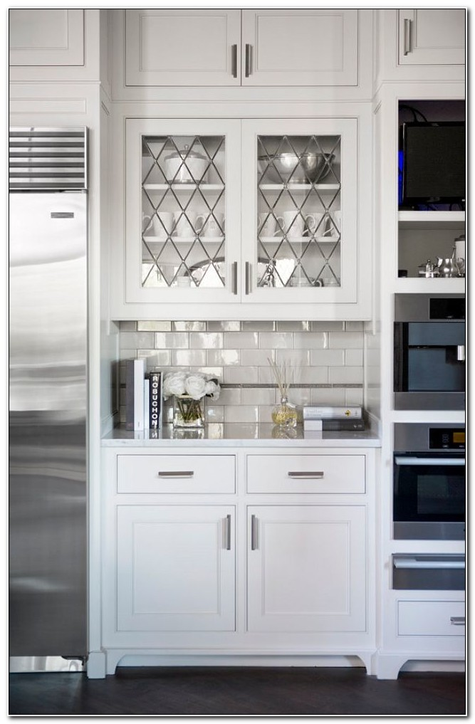 Leaded Glass Cabinet Doors Kitchen