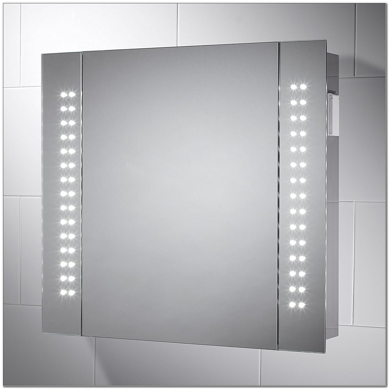 Led Illuminated Bathroom Demister Cabinet Mirror