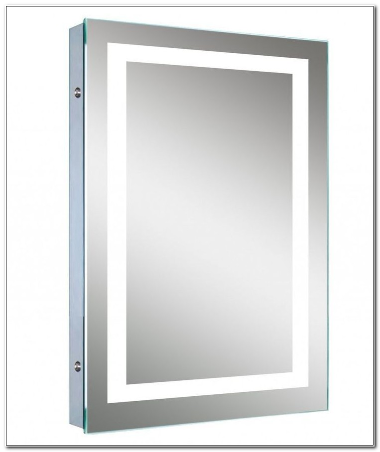 Led Lighted Mirror Medicine Cabinet