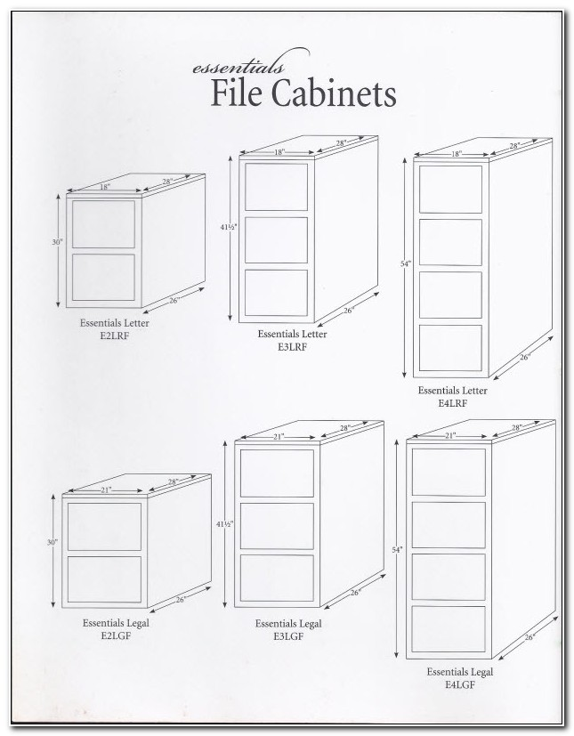 Legal File Cabinet Dimensions