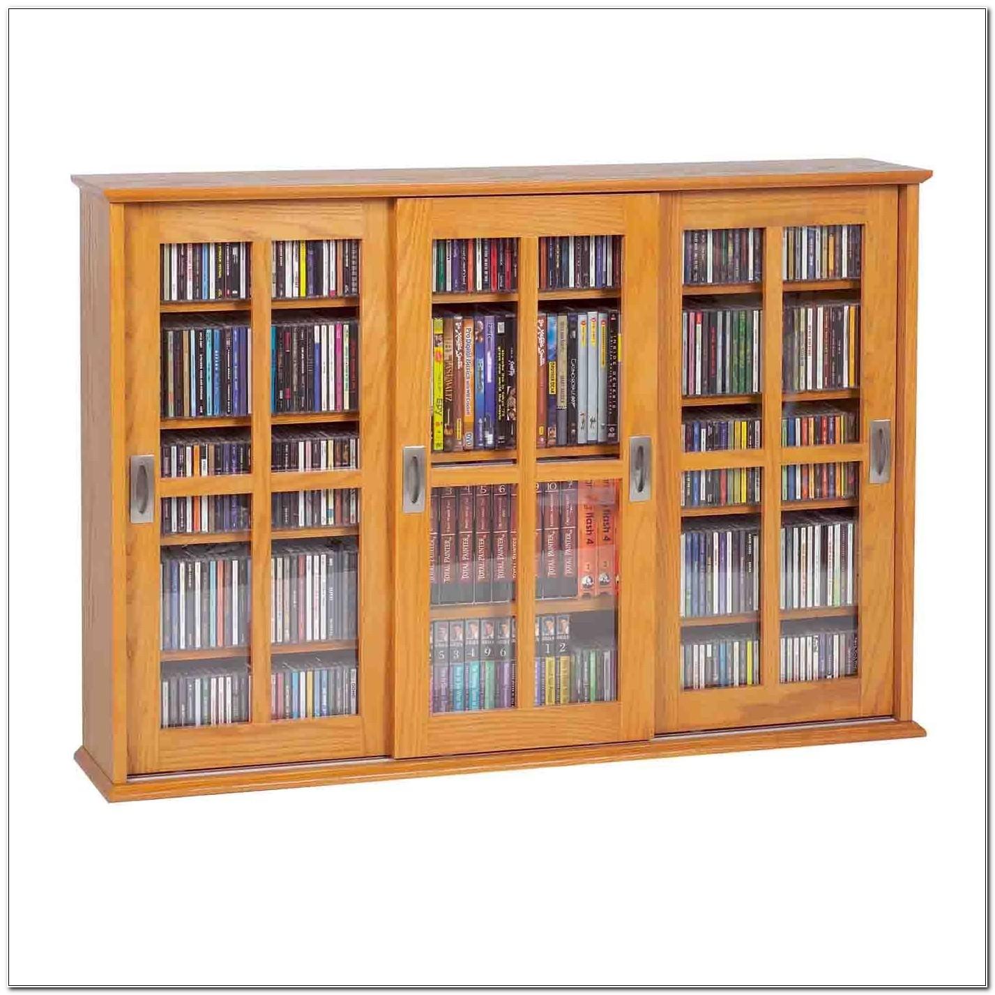 Leslie Dame Glass Door Media Multimedia Cabinet