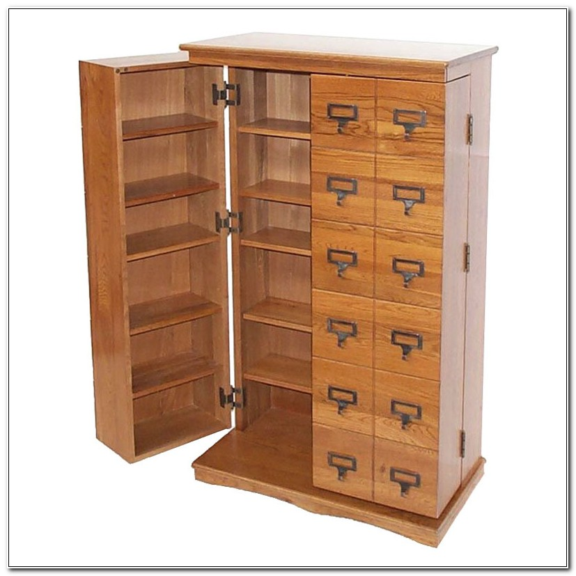 Library Style Multimedia Cabinet