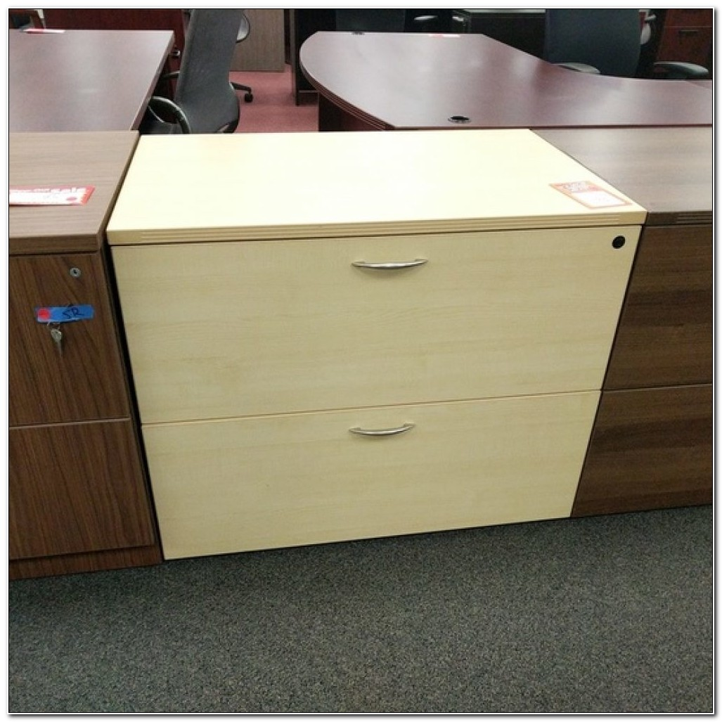 Light Maple Lateral File Cabinet