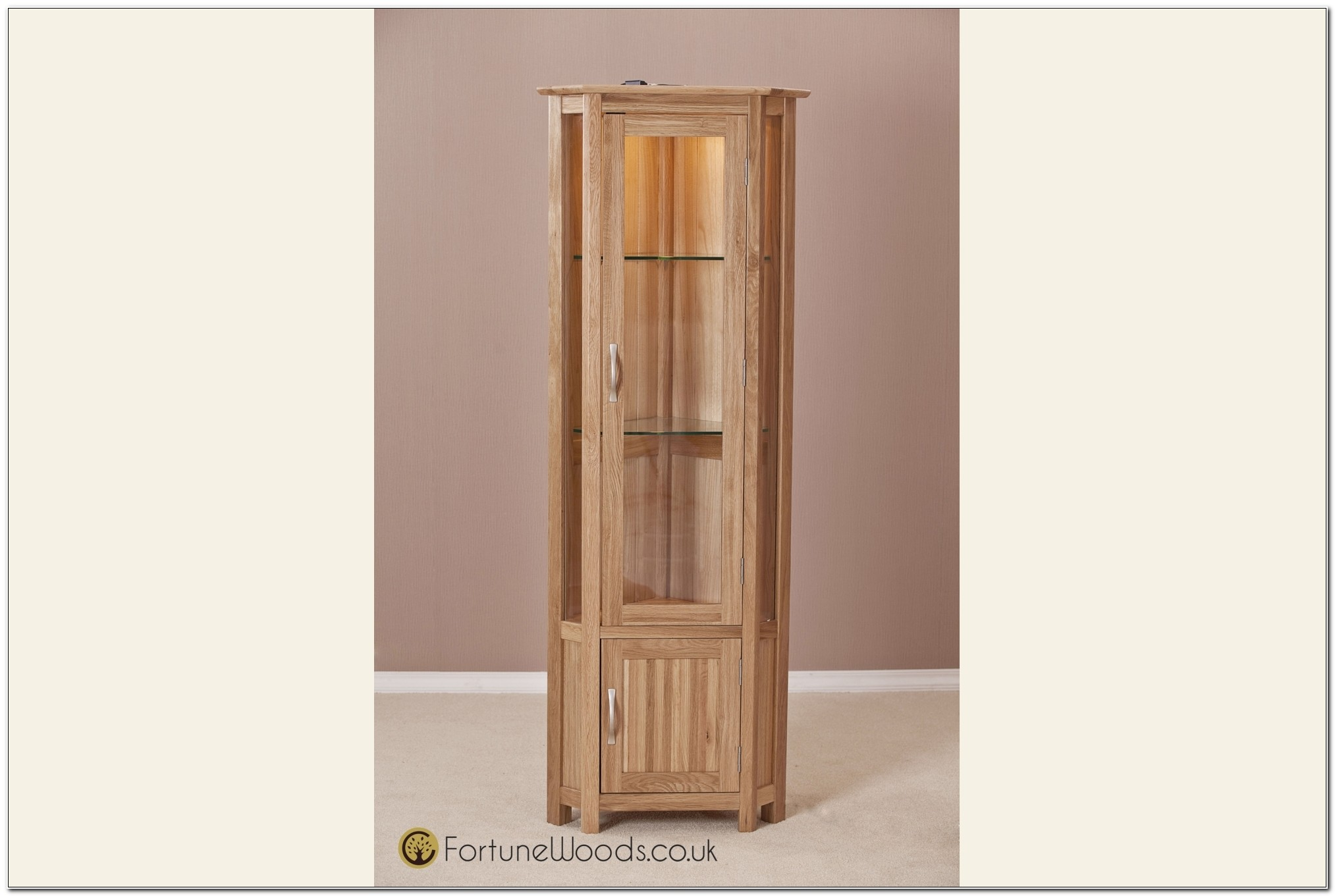 Light Oak Corner Cupboard