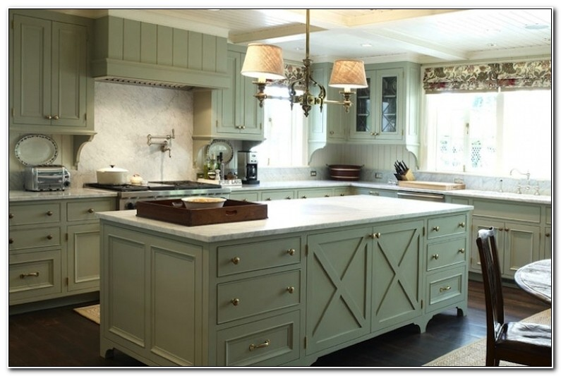 Light Sage Green Kitchen Cabinets