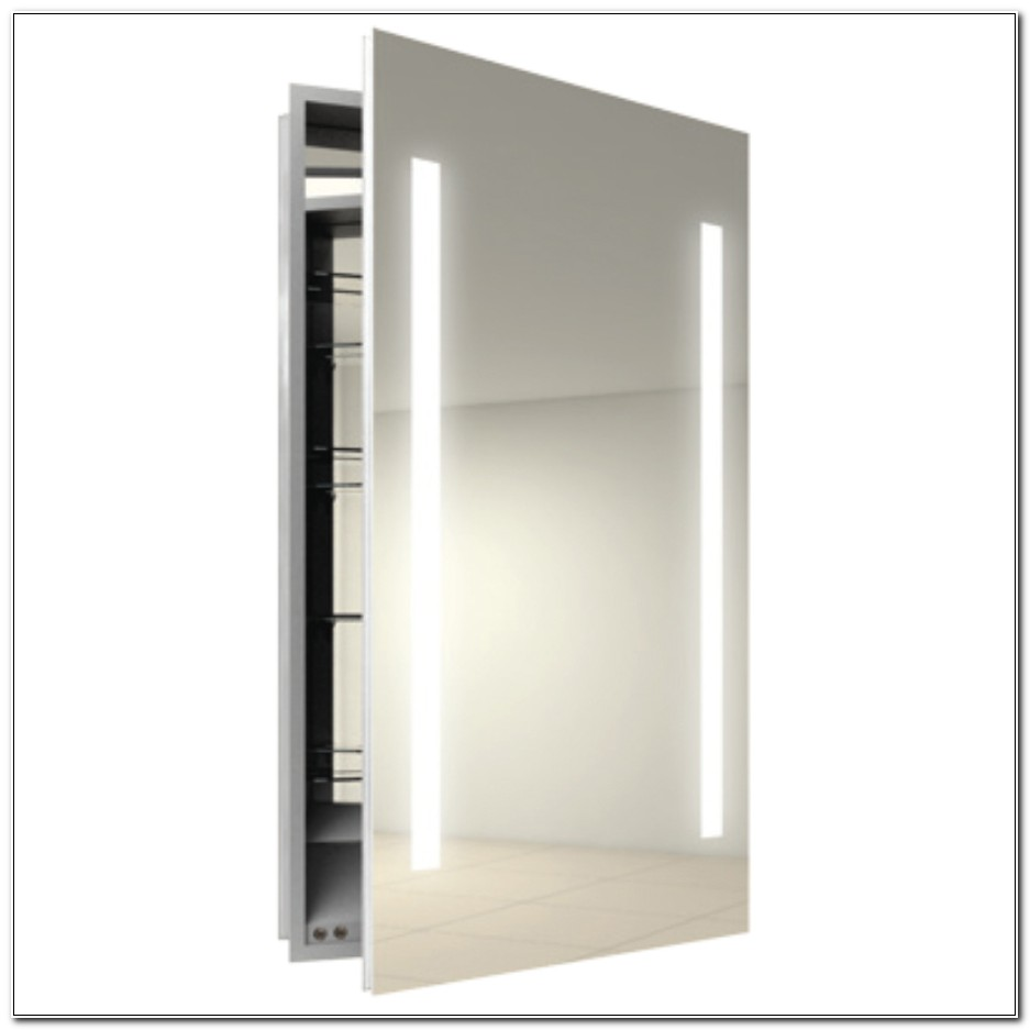 Lighted Medicine Cabinet With Mirror