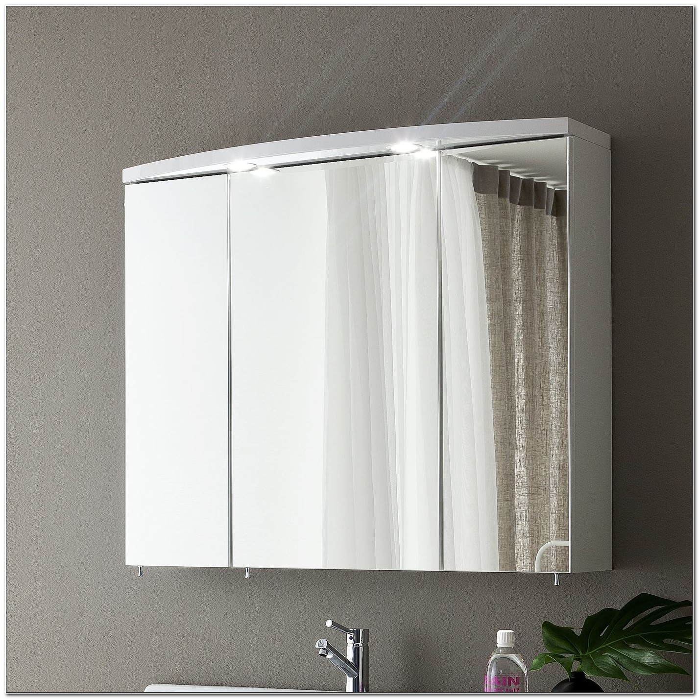 Lighted Mirror Medicine Cabinet Bathroom