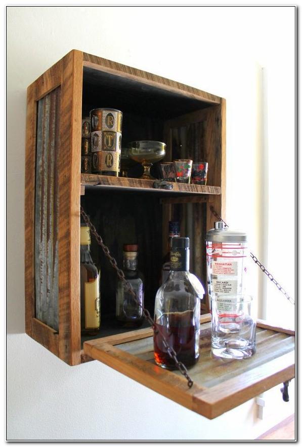 Liquor Cabinet Wall Mounted