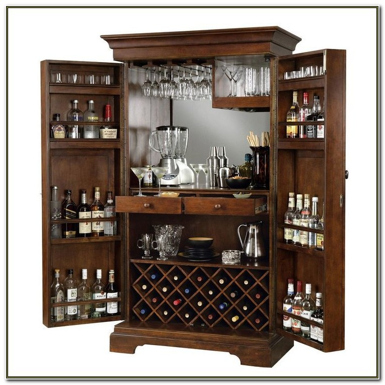 Liquor Cabinet With Lock