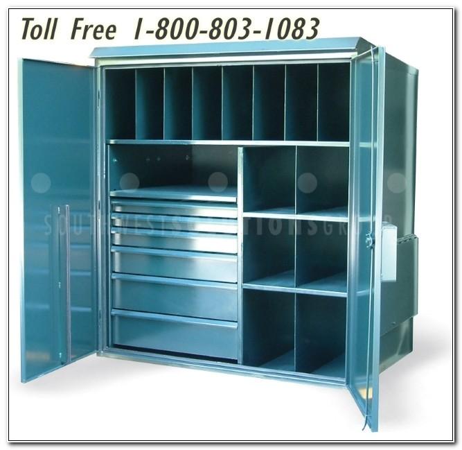 Lockable Heavy Duty Metal Storage Cupboard Cabinet
