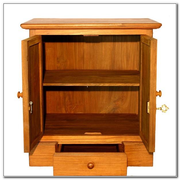 Lockable Wood Storage Cabinets