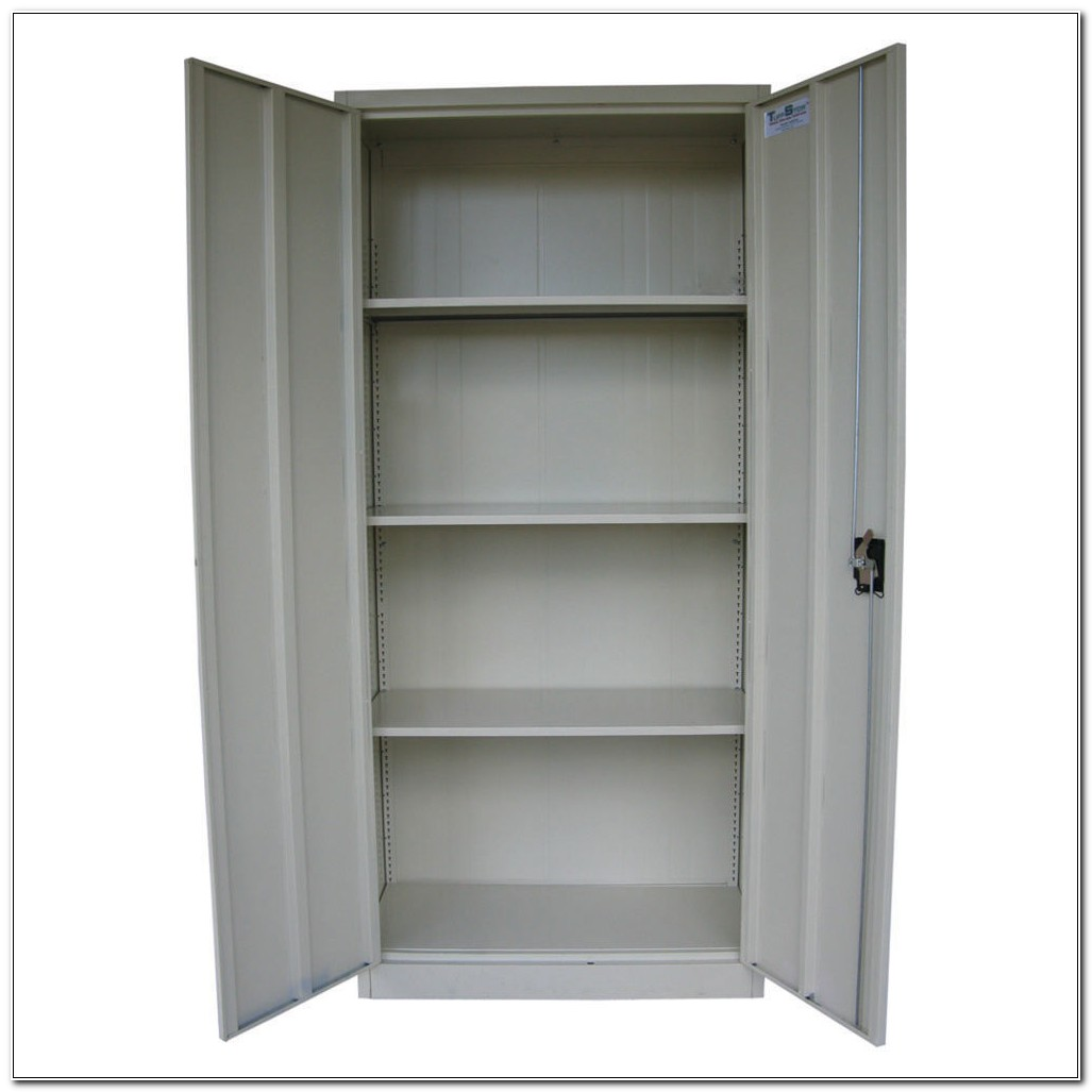 Locking Cabinet With Shelves