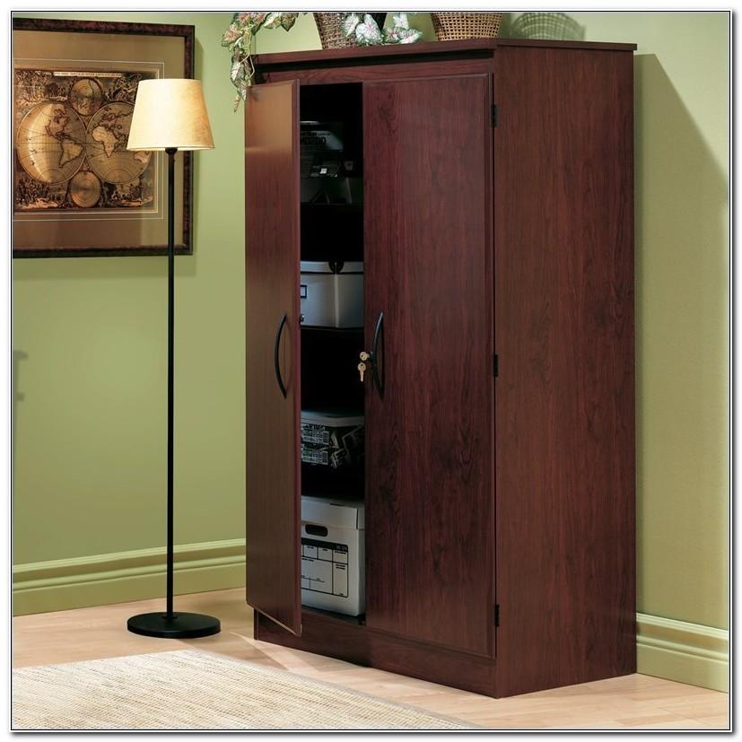 Locking Wooden Storage Cabinets