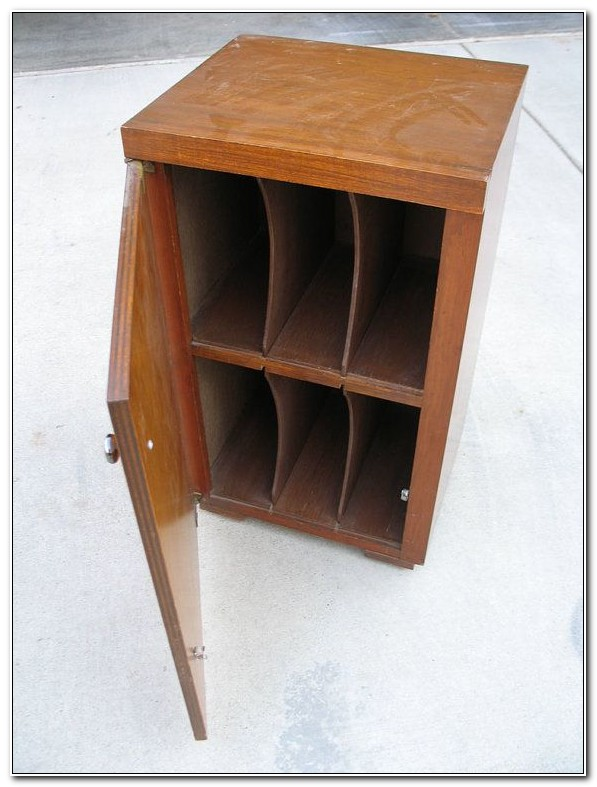 Lp Record Storage Cabinet Wood