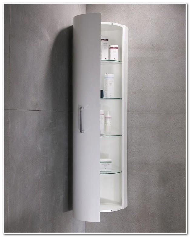 Luxe Designer Tall Corner Bathroom Cabinet