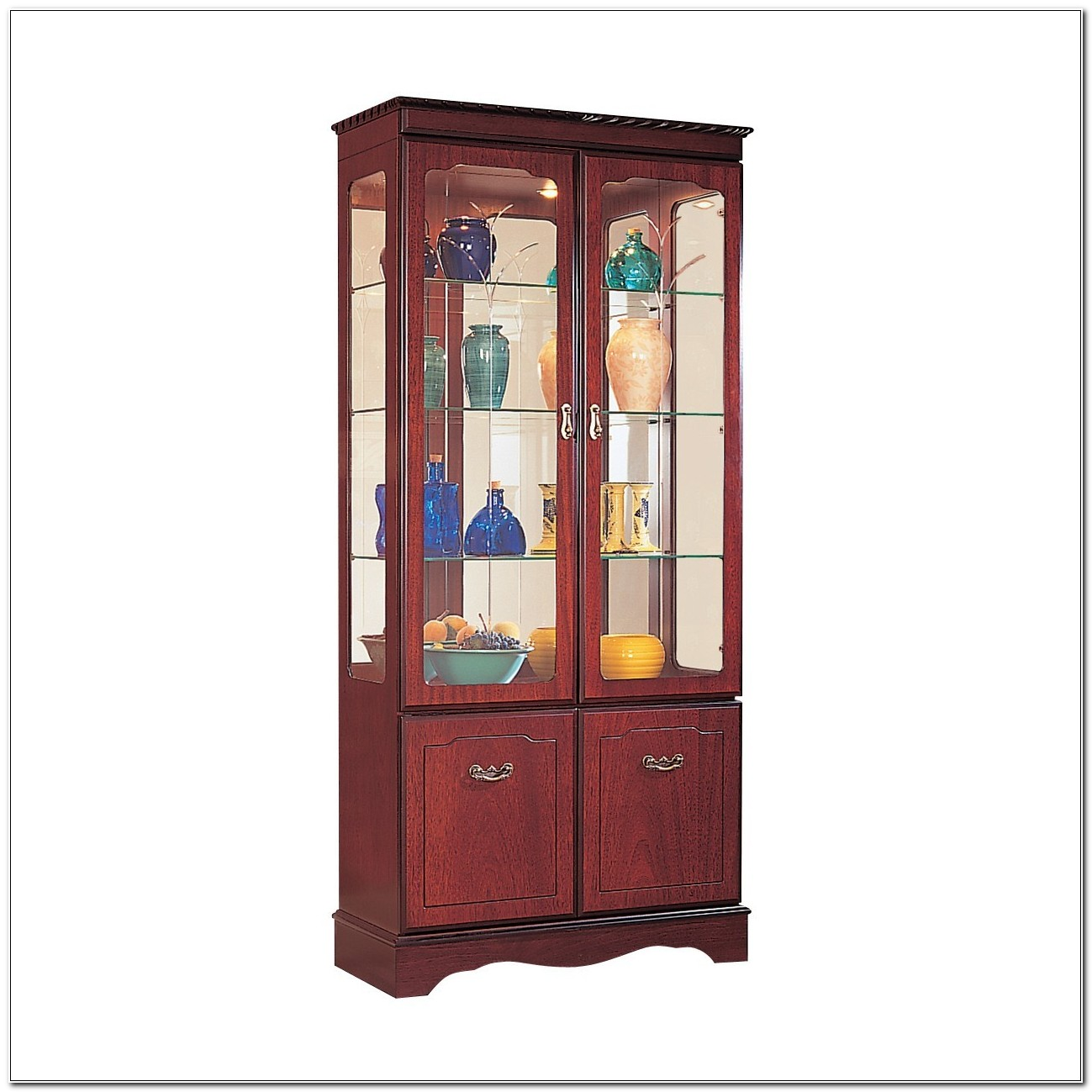 Mahogany Display Cabinets Glass Doors