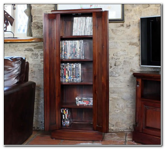 Mahogany Dvd Storage Cabinet