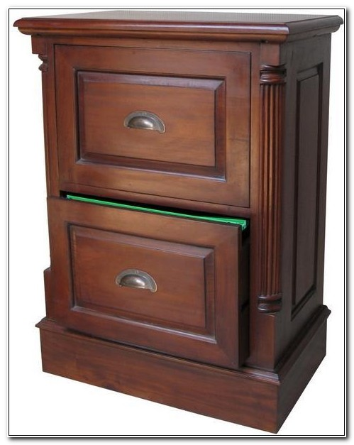 Mahogany Filing Cabinet 2 Drawer