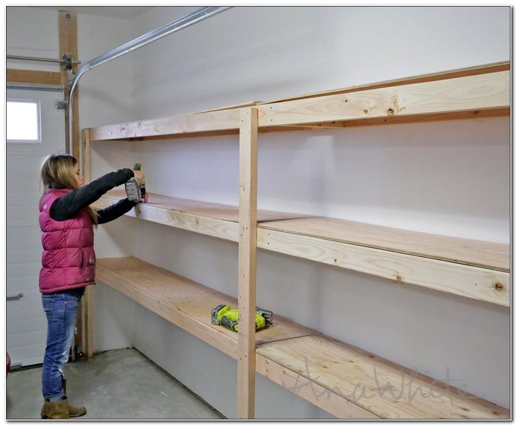 Making Your Own Garage Shelves