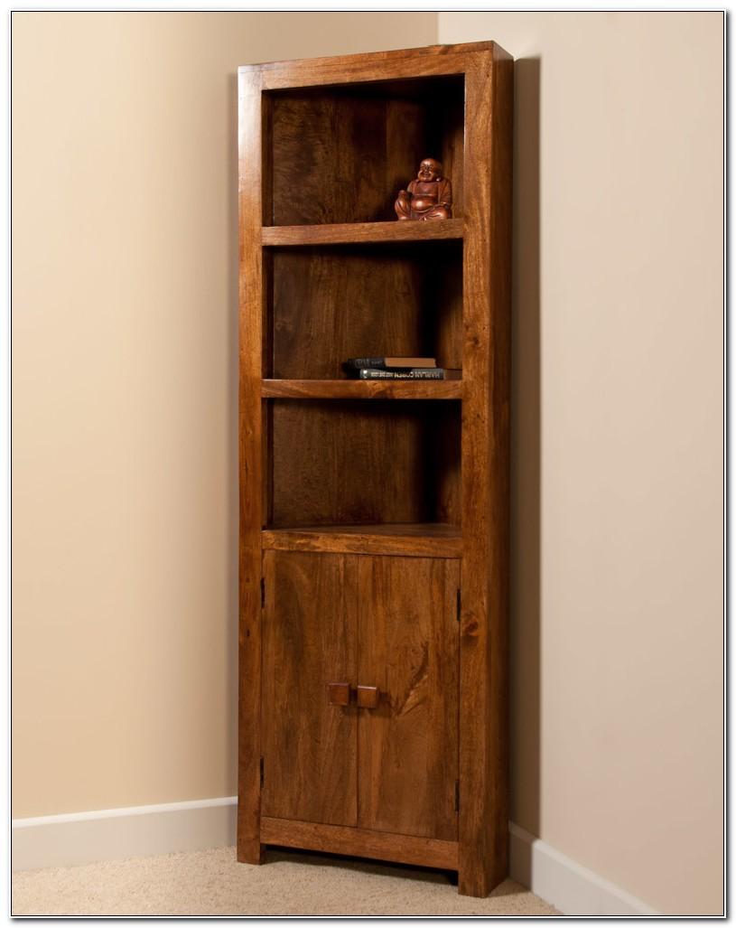 Mango Wood Corner Display Cabinet