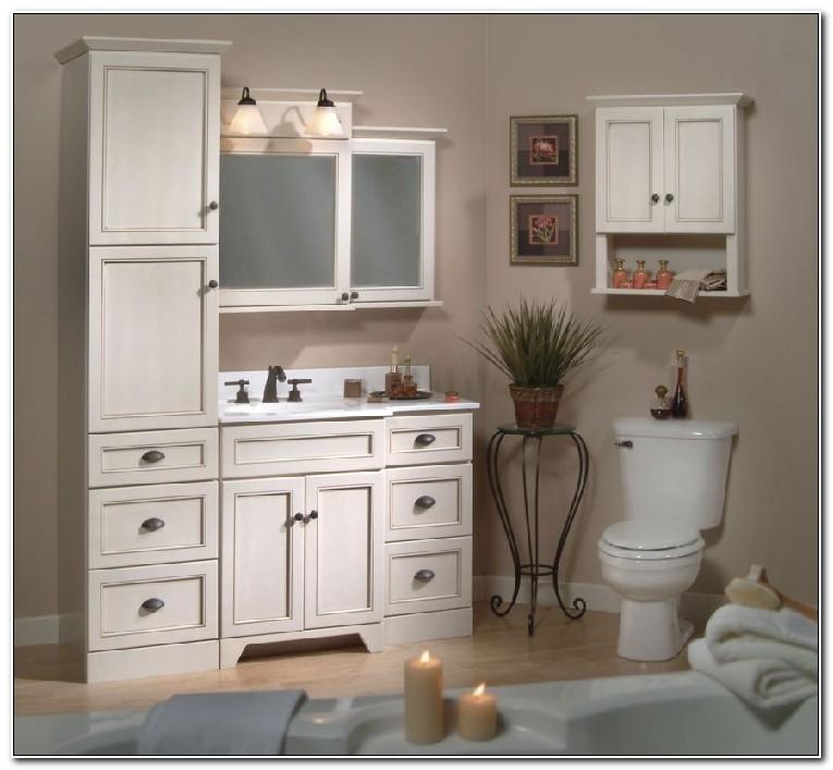 Matching Bathroom Vanity And Linen Cabinet
