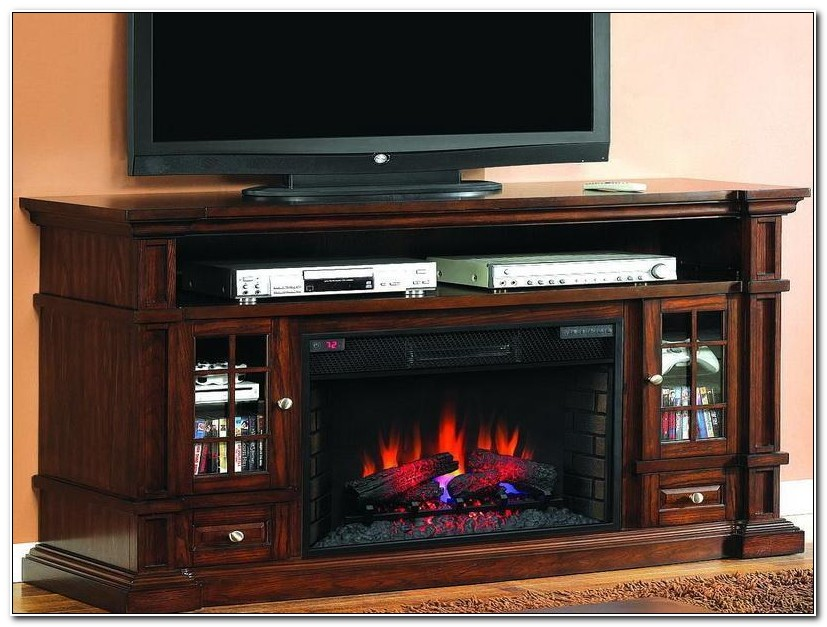 Media Cabinet With Electric Fireplace