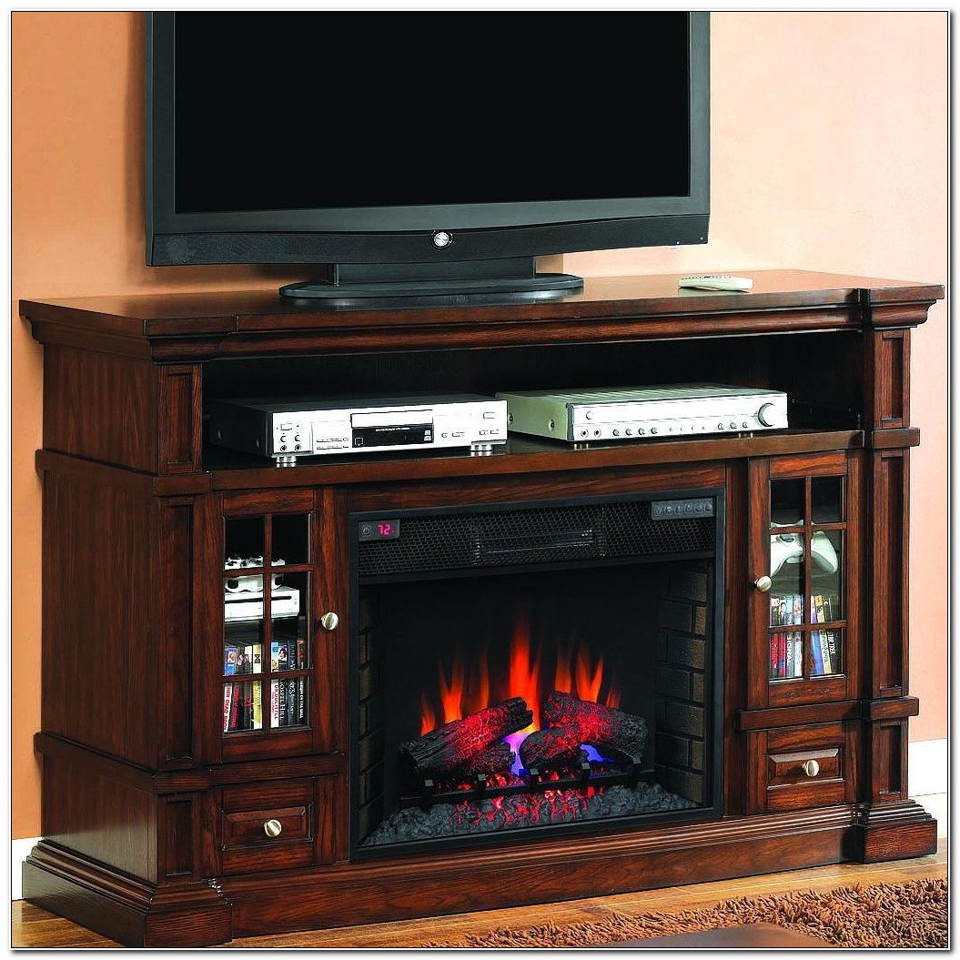 Media Console Electric Fireplace Cabinet