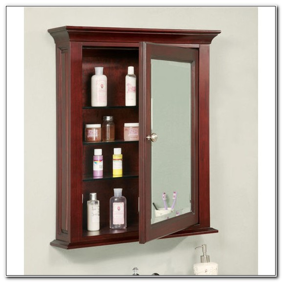 Medicine Cabinet Surface Mount Cherry