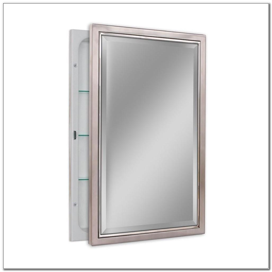 Metal Framed Recessed Medicine Cabinet