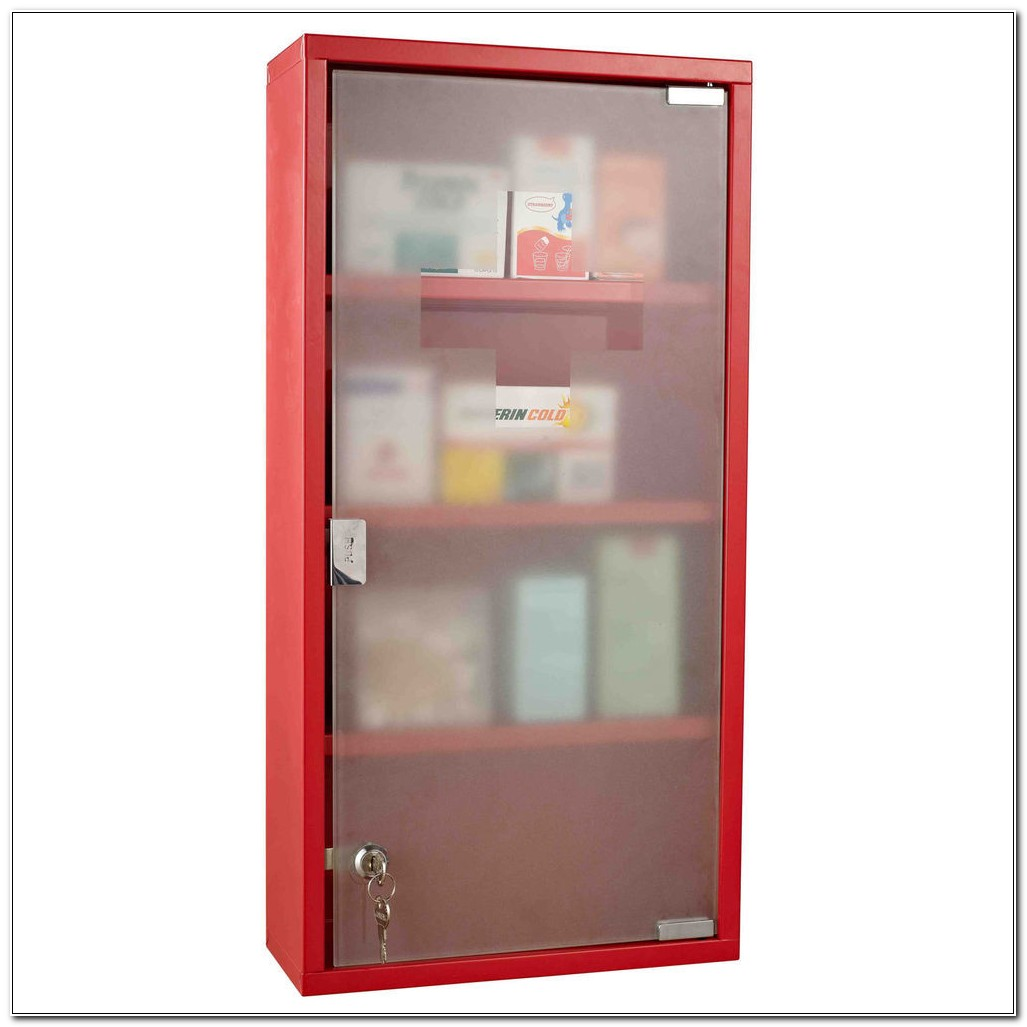 Metal Medicine Cabinet With Lock