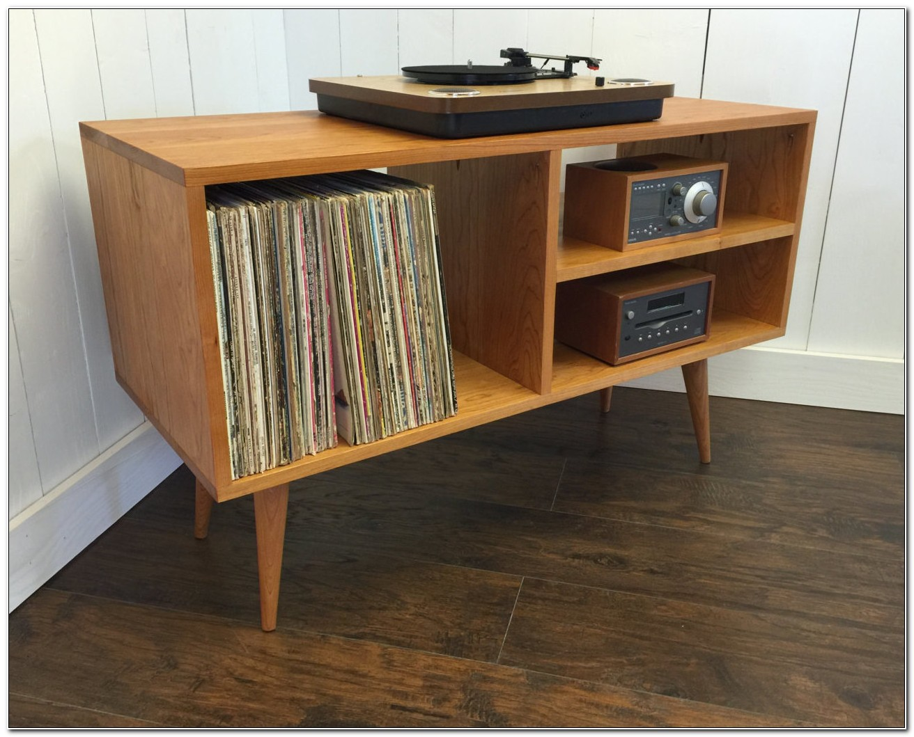 Mid Century Record Player Cabinet
