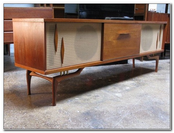 Mid Century Stereo Cabinet