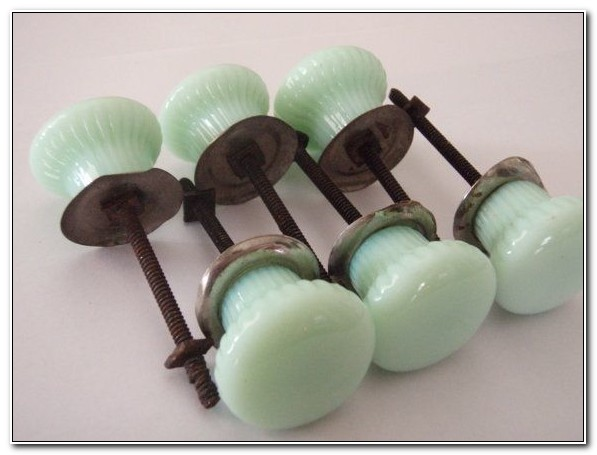 Milk Glass Cabinet Knobs