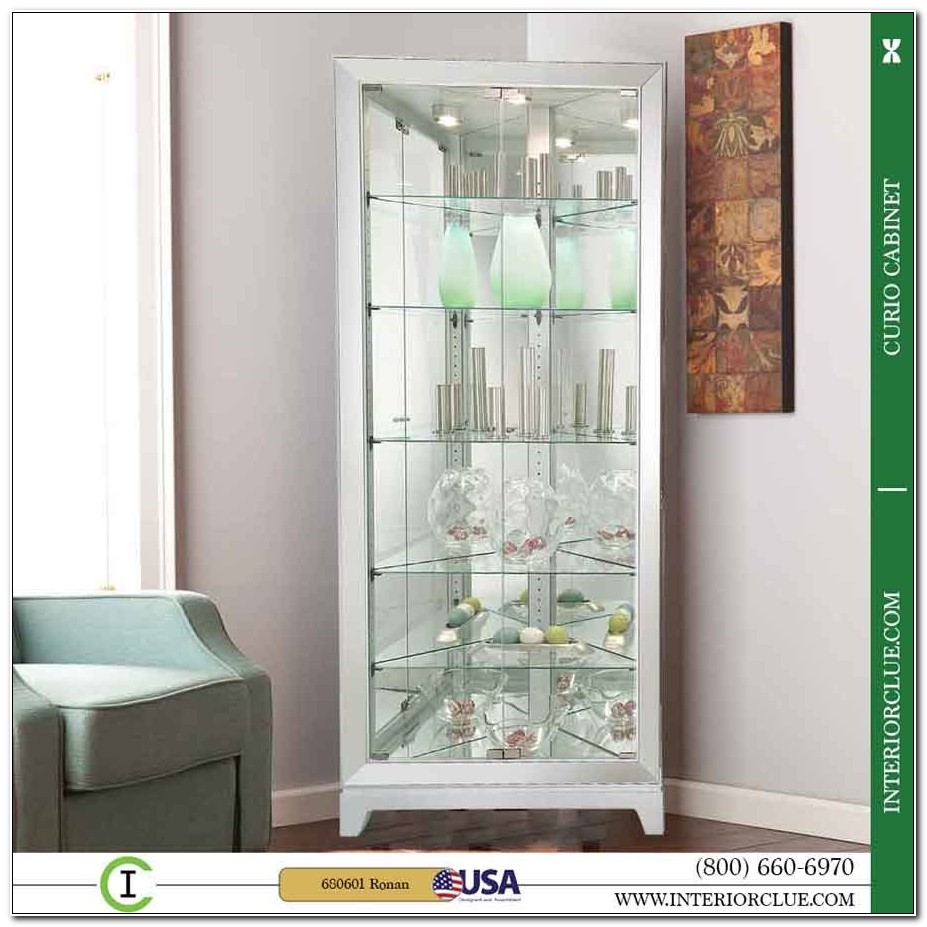 Mirrored Corner Curio Cabinet