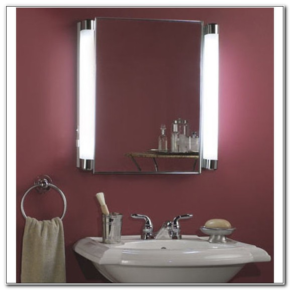 Mirrored Medicine Cabinet With Side Lights