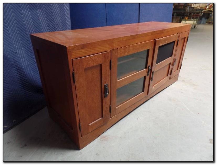Mission Style Oak Media Cabinet