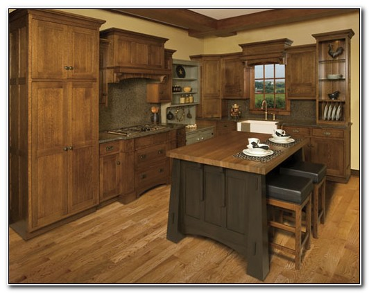 Mission Style Quarter Sawn Oak Kitchen Cabinets