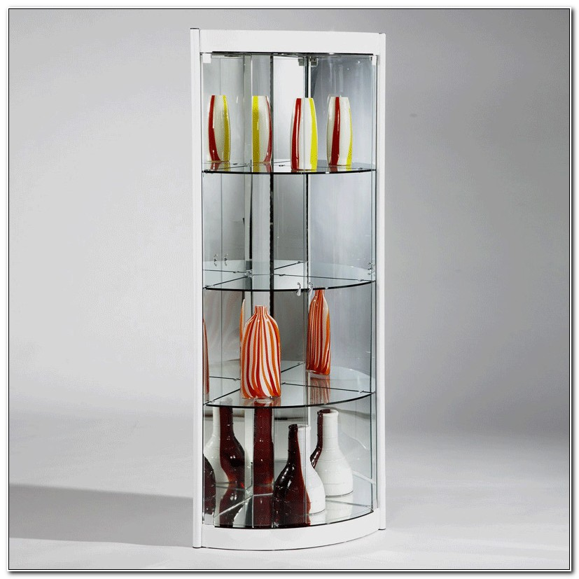 Modern Corner Curio Cabinet