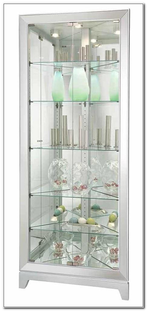 Modern Glass Corner Curio Cabinet