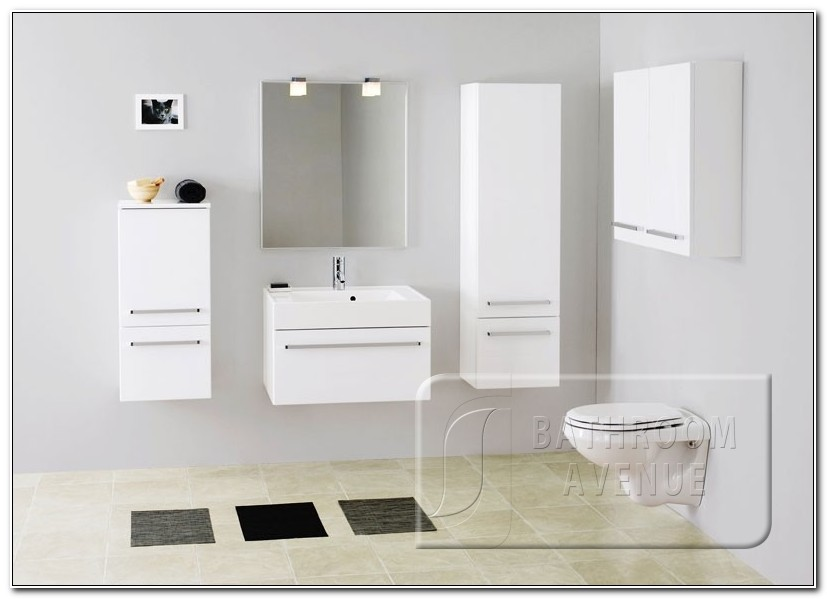 Modern White Bathroom Wall Cabinet