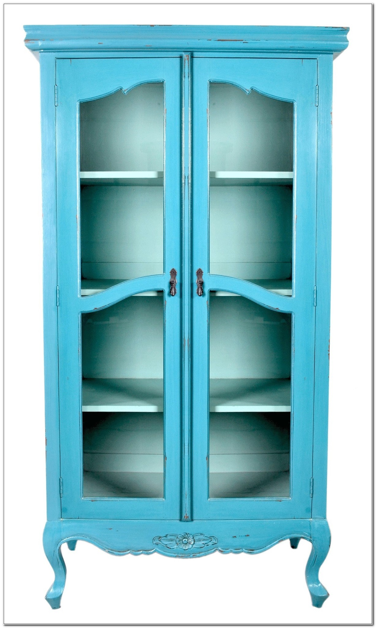 Narrow Cabinets With Glass Doors
