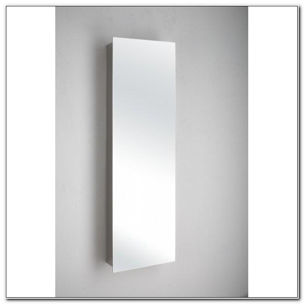 Narrow Mirrored Bathroom Wall Cabinet