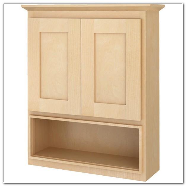 Natural Wood Bathroom Wall Cabinets