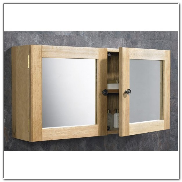 Oak Bathroom Wall Cabinet Mirror