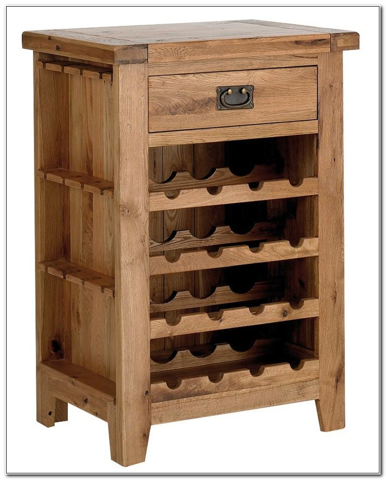 Oak Cabinet Wine Rack Insert
